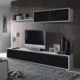 Mueble moderno de salón comedor para televisión