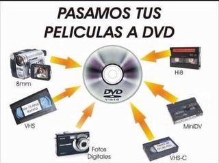 VHS a DVD Servicio a domicilio!!