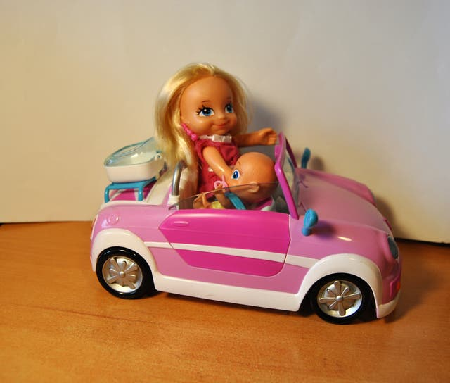 Barriguitas + bebe+coche Famosa