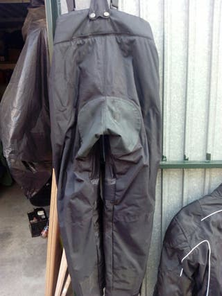 Traje de moto de cordura con protecciones