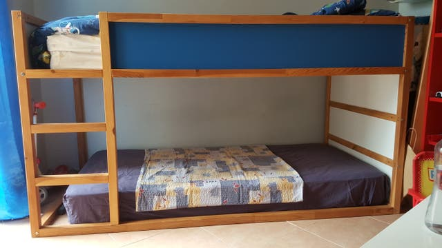 Litera cama infantil ikea kura de segunda mano por 80 en saladar en wallapop - Cama infantil ikea ...