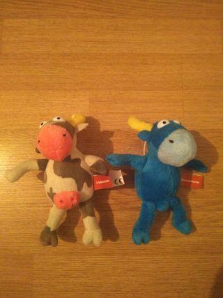 Peluches Toro y Vaca Kukuxumusu