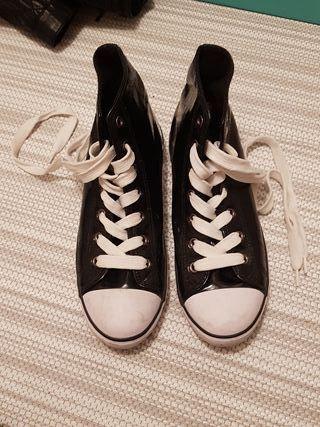 zapatillas tipo converse mujer