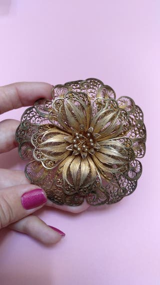 Broche antiguo filigrana