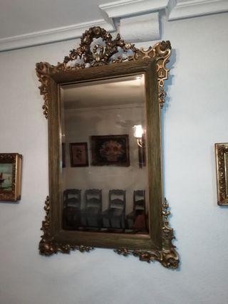 Espejo dorado Segundo Imperio