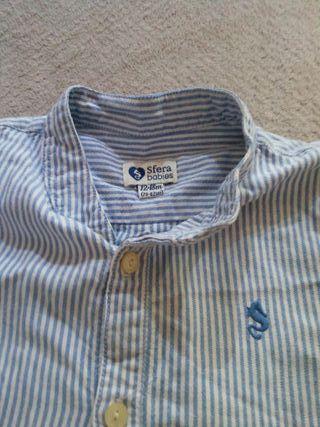 Blusa talla 12-18 rayas azul