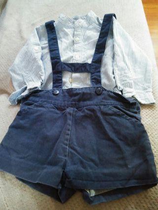 Conjunto blusa y pantalón talla 12-18