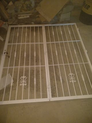 Reja forja lacada puerta doble 1,95x2,05