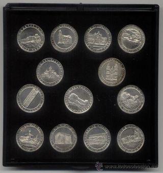 Colección 13 arras de plata con motivos de Almeria
