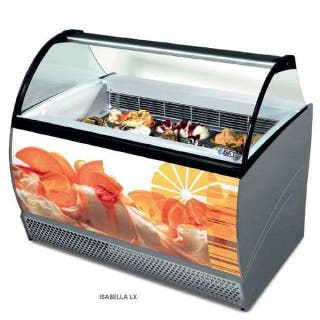 vitrina de helados heladeria 14 sabores