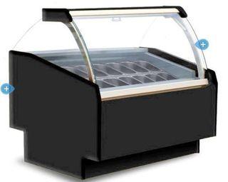 vitrina expositora de helado artesano