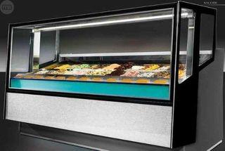 vitrina de helados heladeria italiana