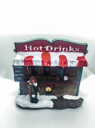 Maqueta navideña puesto de bebidas
