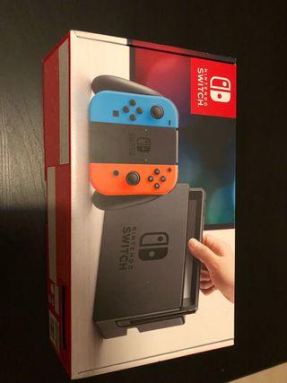 Nintendo switch casi nueva solo consola y mandos