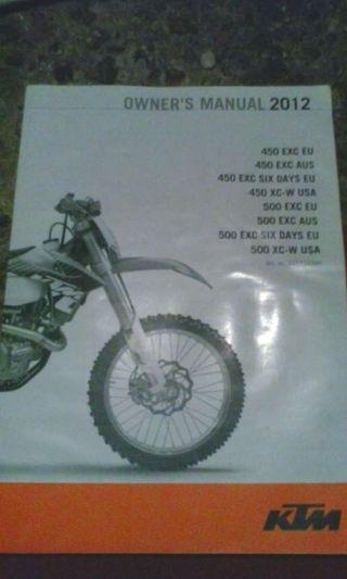 Manual KTM 450--500