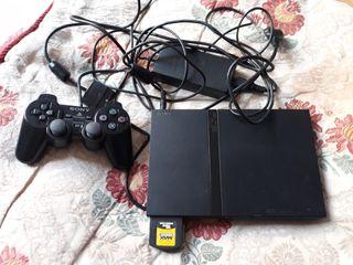 PlayStation2 con 3 juegos y memoricard