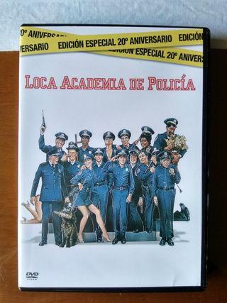 DVD Loca academia de policía y ficha