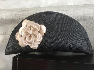 Flor Negro Con Segunda 25 Bolso Mano De Abanico Por qtRS4