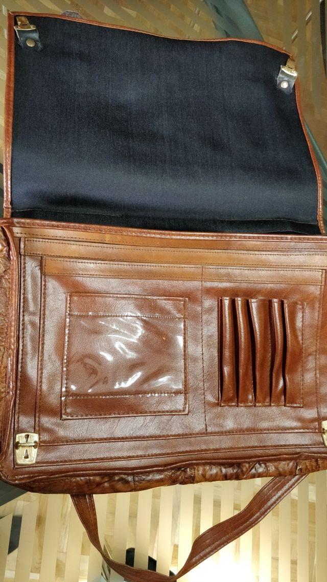 maletin de piel retro