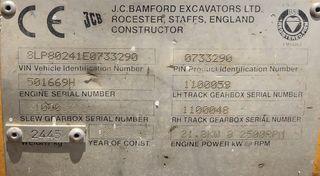 Giratoria cadenas JCB mini excavadora reacondicion