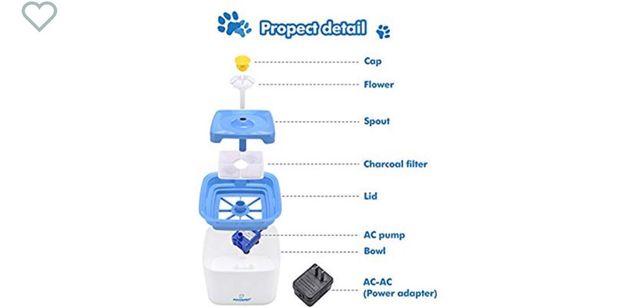 Fuente de agua para gatos.