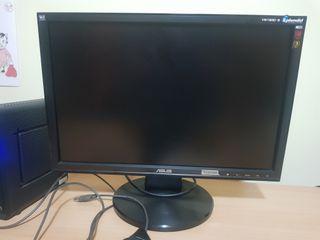 pantalla ordenador Asus con cables