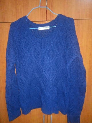 sueter de lana azul
