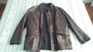 Chaqueta-Abrigo Vintage de cuero