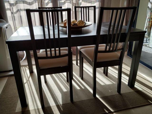 conjunto mesa de comedor y 4 sillas (ikea)