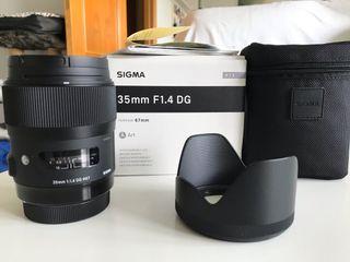 Sigma 35mm f1.4 montura Canon como nuevo