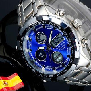 Reloj Hombre Digital Acero Relojes premium calidad