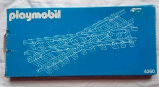 Playmobil tren 4360 cruce via