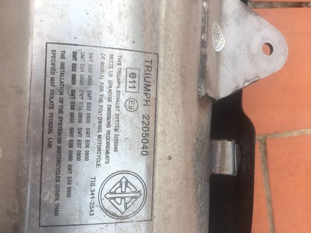 Tubo de escape Triumph Tiger XCX