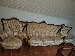 conjunto sofa butacas luis xv