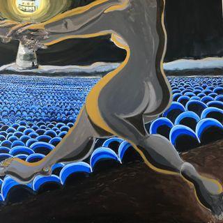 """Cuadro grande """"Noche de Playa"""" 146x114 cm"""