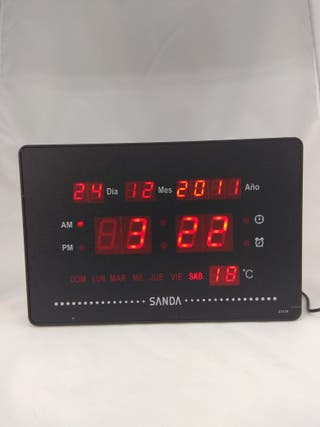Reloj pared led Sanda-0031 (nuevos)