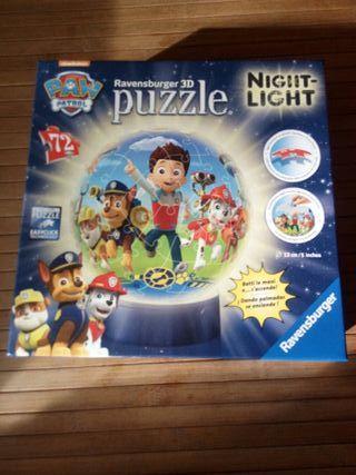 lámpara puzzle patrulla canina
