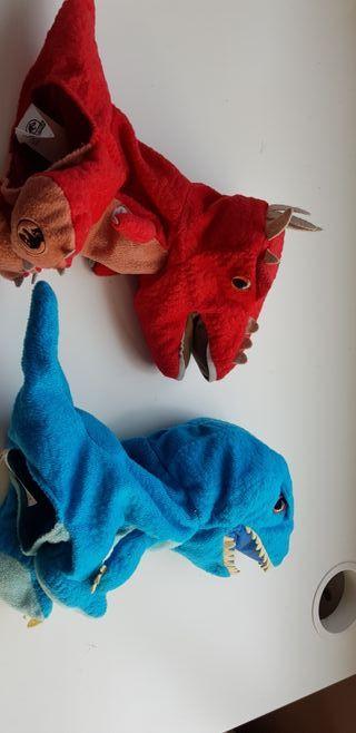Dinosaurio peluche marioneta