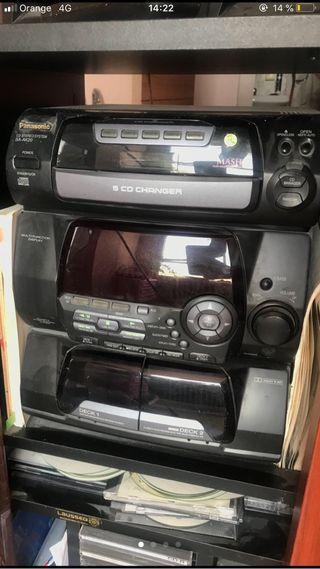 Cadena de música cd y cinta