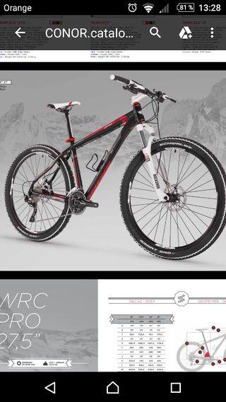 bicicleta de montaña Conor WRC pro XT