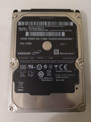 """HDD 2.5"""" de 500 Gb, Samsung"""
