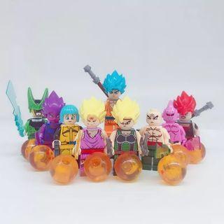 lote de 9 muñecos dragon ball z (Nuevo)