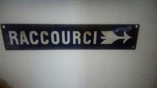 placa francesa esmaltada