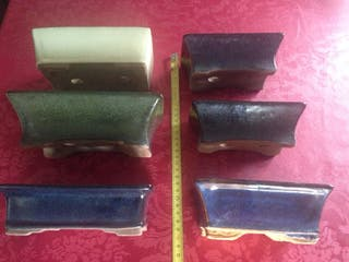 3 maceteros de bonsai usados