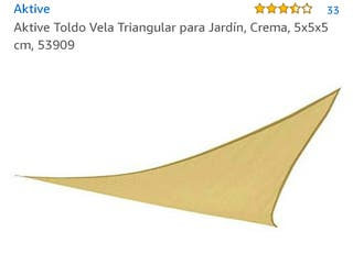 Toldo vela triangular 5x5x5