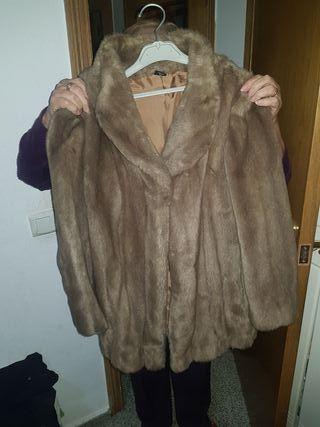abrigo de piel