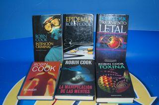 Lote 6 Libros ROBIN COOK-EPIDEMIA-TRATAMIENTO mas