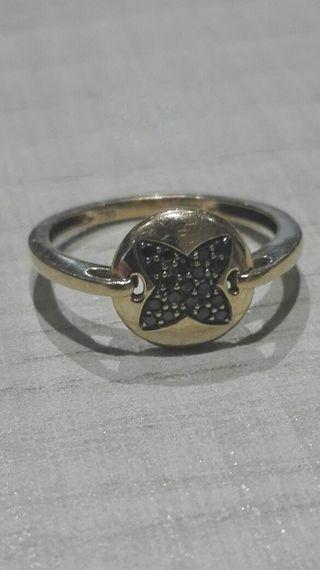 anillo ARISTOCRAZY oro rosa 18k. diamantes negros.