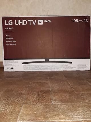 TV 4k HDR 43 pulgadas LG 43uk67 Nueva