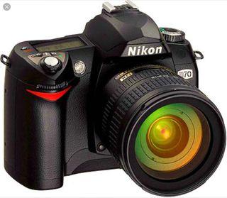 Cámara Nikon D70s